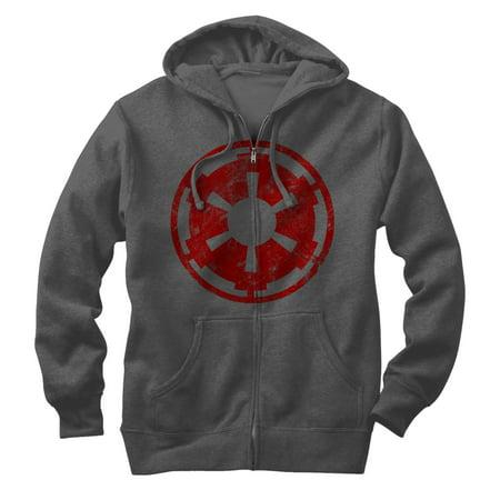 Star Wars Men's Empire Emblem Zip Up Hoodie Clouds & Stars Quick Zip