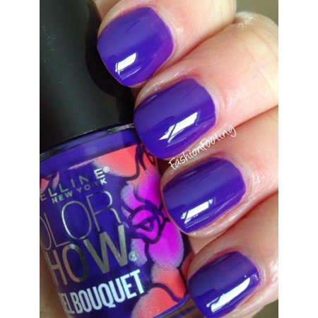 3 PACK MAYBELLINE Color Show REBEL BOUQUET Nail Polish PURPLE ...