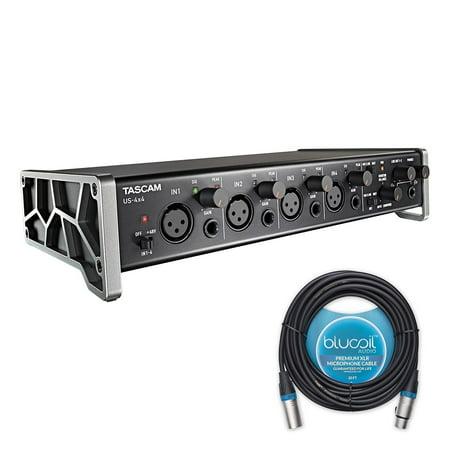 tascam us 4x4 usb audio midi interface includes blucoil audio 20 39 balanced xlr cable. Black Bedroom Furniture Sets. Home Design Ideas