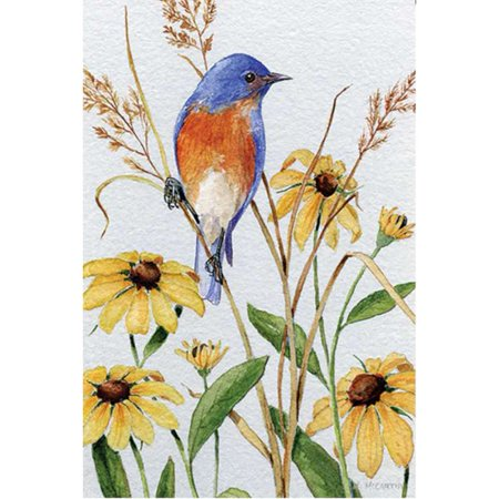 Premier Illuminated Garden Flag - Bluebird and Susies