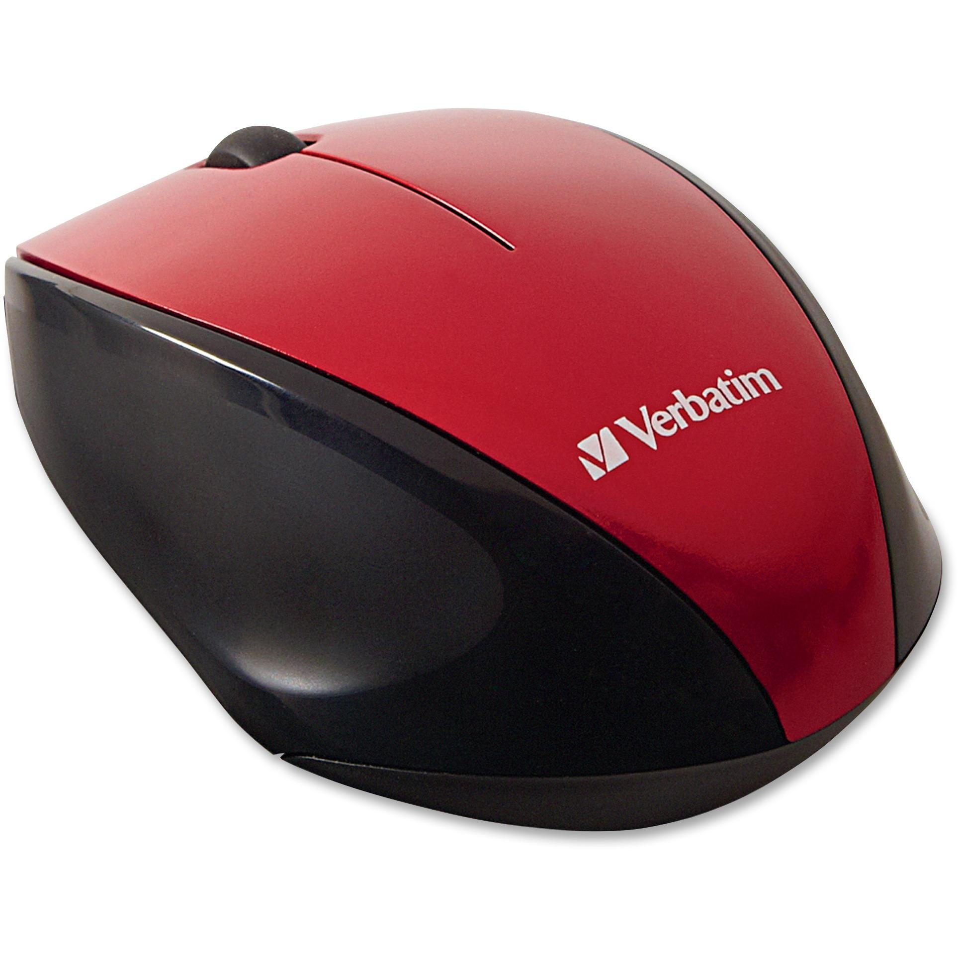 Verbatim, VER97992, Wireless Multi-trac LED Optical Mouse, 1, Black