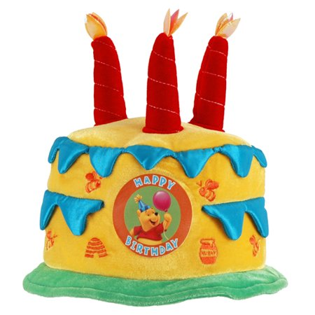 Winnie The Pooh Happy Birthday Plush Cake Hat 1ct