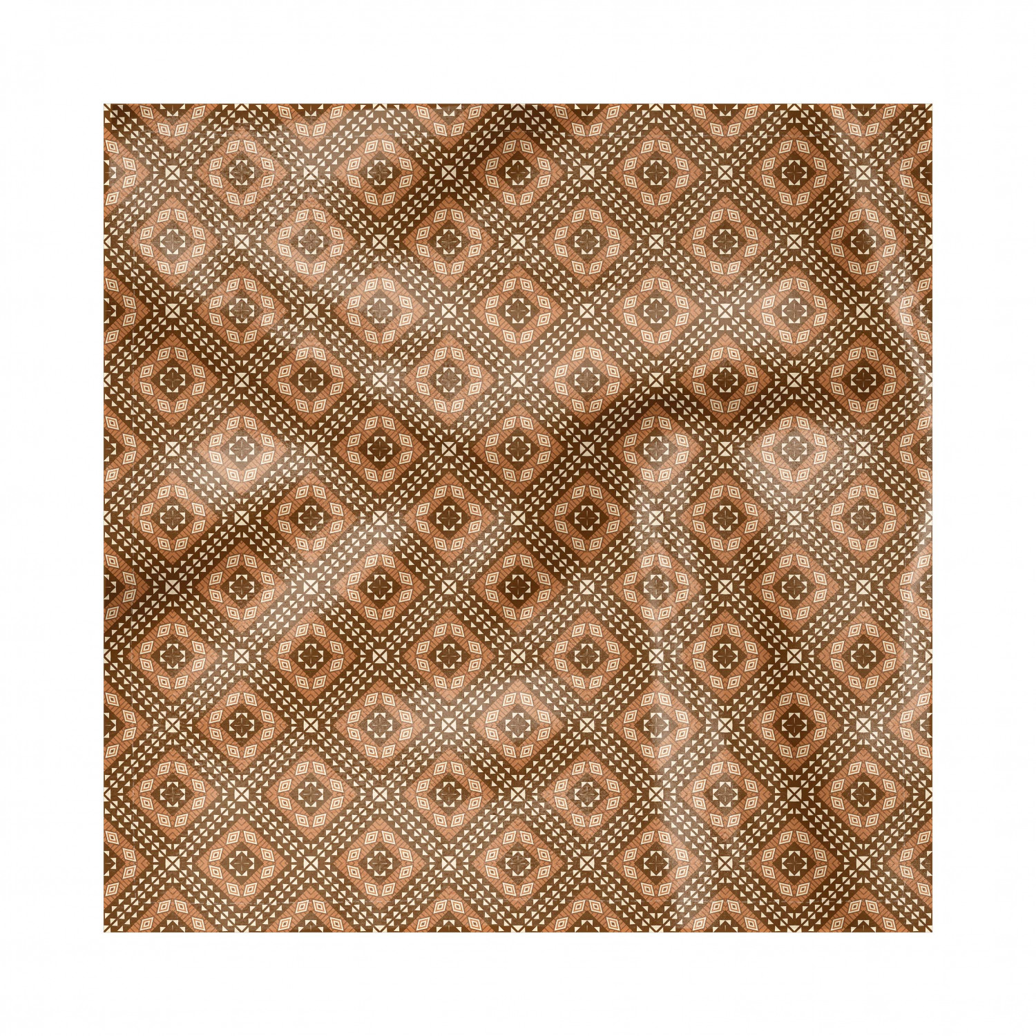 Kente Pattern Napkins Set Of 4 Traditional Motifs In Brown Shades Indigenous Culture Silky Satin Fabric For Brunch Dinner Buffet Party By Ambesonne Walmart Com Walmart Com