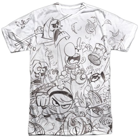 Grim Adventures Of Billy And Mandy Brawl Mens Sublimation