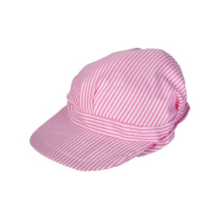 Kids Girls Pink & White Engineer Train Driver Engineer Hat Costume Uniform](Train Hats)