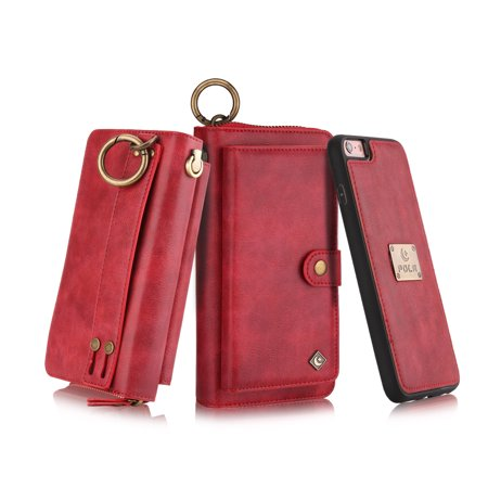 red iphone 8 wallet case