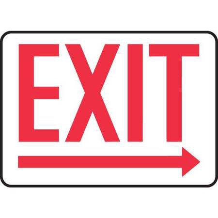 Exit Sign  Accuform Signs  Madc534vs  10 Hx14 W
