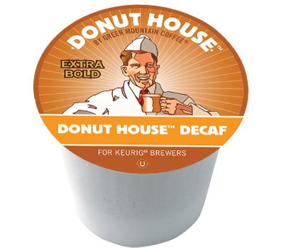 Green Mountain Donut House DECAF 4 Boxes of 24 K-Cups by Green Mountain