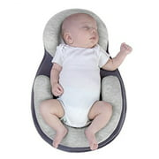 High Quality Pillow Newborn Baby Infant Sleep Positioner Prevent Flat Head Shape Anti Roll Pillow-Grey