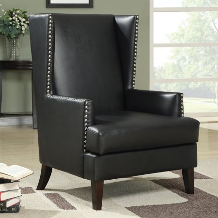 Coaster Traditional Leatherette Accent Chair, (Leatherette Accent)