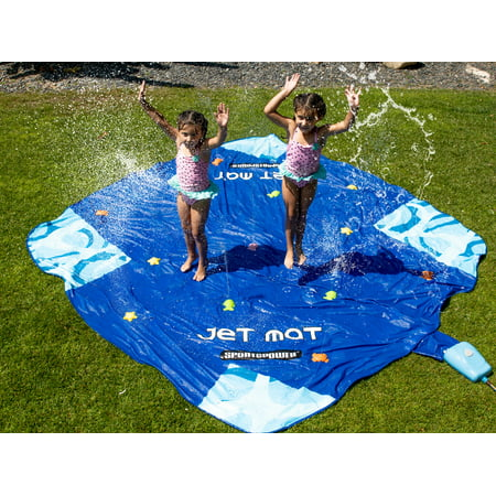Sportspower Jet Mat, Outdoor 10' x 10' Water Sprinkler Splash Mat with Automatic WaterPark Control System