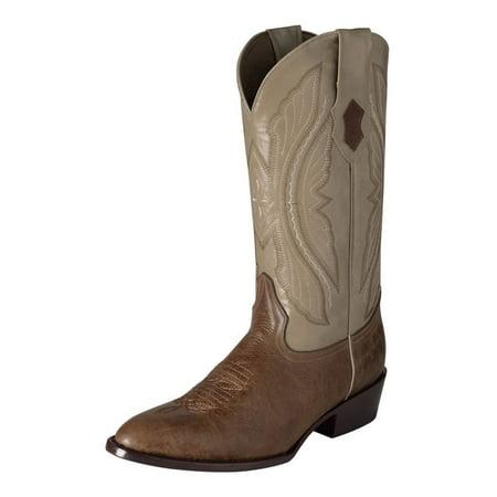 Mens Antique Saddle (Ferrini Western Boots Men Exotic Kangaroo Dark Antique Saddle 10811-15 )