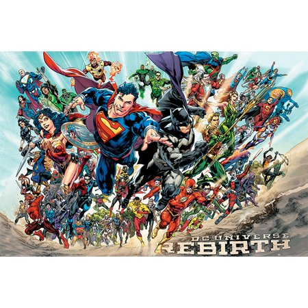 Justice League Of America - JLA - Comic Poster / Print (DC Universe Rebirth) (Size: 36