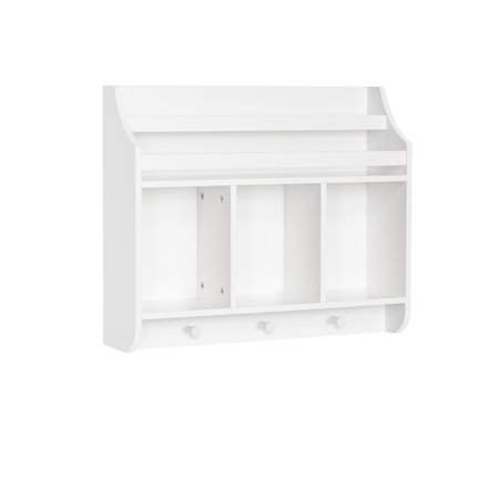 RiverRidge® Book Nook Collection Kids Wall Shelf with Cubbies and Bookrack ()