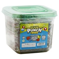 Sour Punch Individually Wrapped Assorted Twists Tub, 2.6 Lb