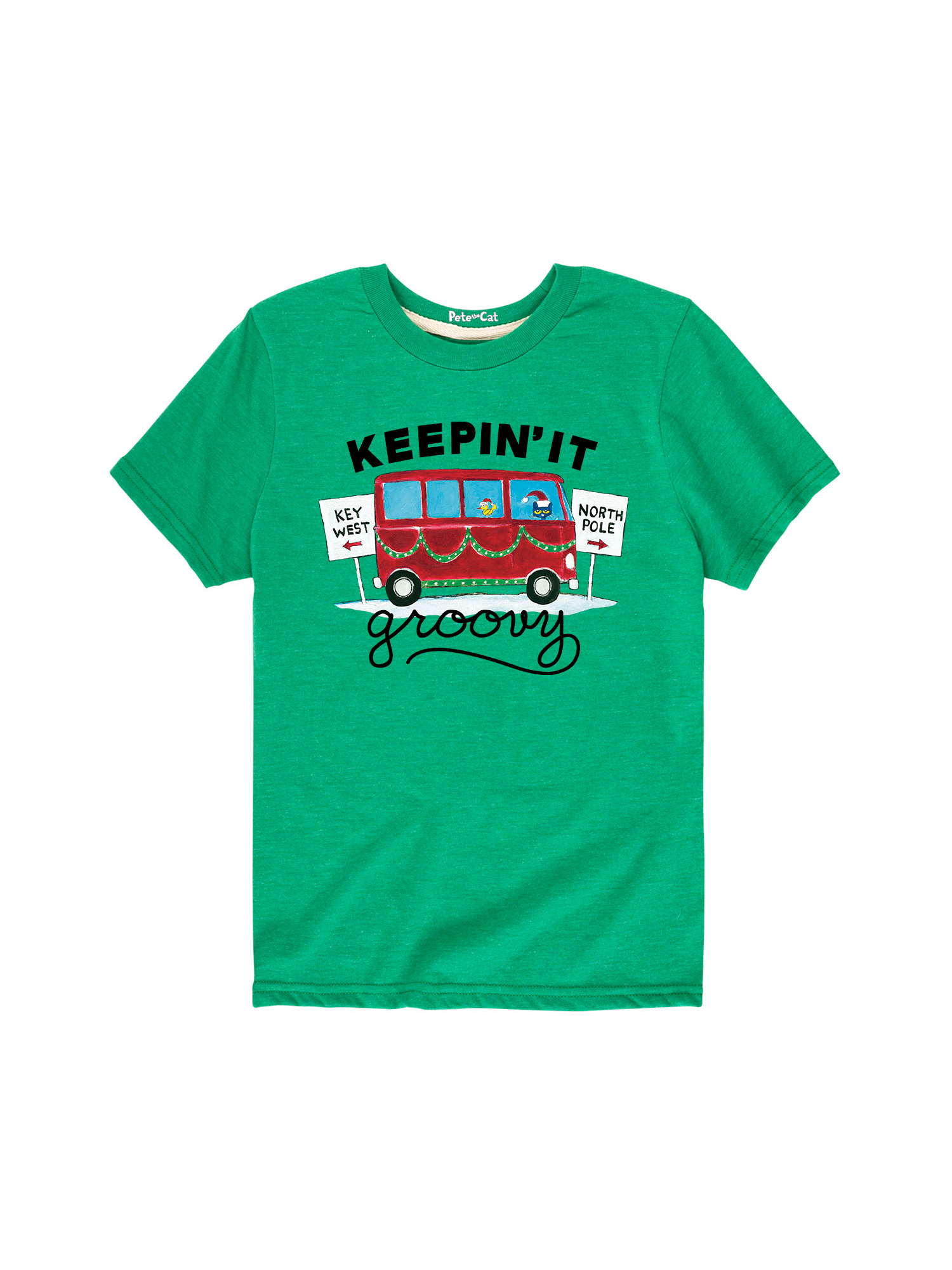 Pete The Cat Keepin' It Groovy - Toddler Short Sleeve Tee