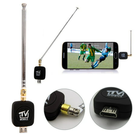 Micro USB DVB-T tuner TV receiver Dongle/Antenna DVB T HD Digital Mobile TV HDTV Satellite Receiver for Android Phone (Hauppauge Wintv Dual Dvb T Tuner 1172)
