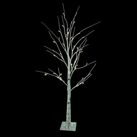 northlight seasonal 4 white twig christmas tree with 48 led warm white lights with stand - White Twig Christmas Tree