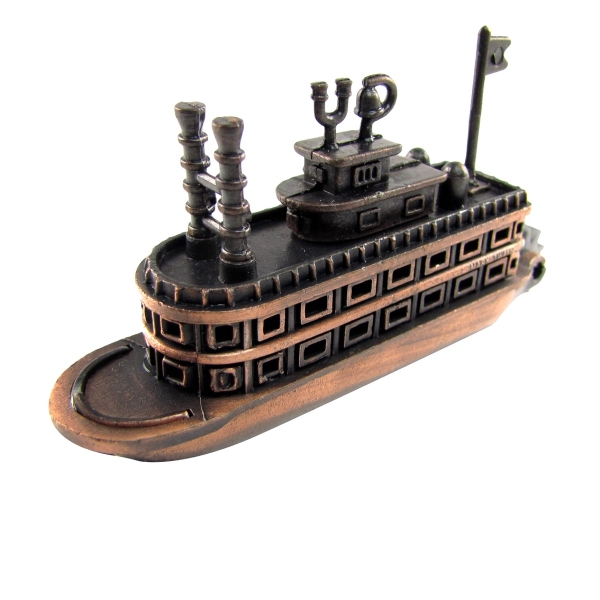 Bronze Metal Steamboat Paddle Boat Replica Die Cast Novelty Toy Pencil Sharpener