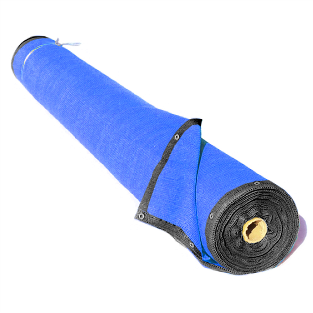 ALEKO Privacy Mesh Fabric Screen Fence with Grommets - 6 x 150 Feet - Blue
