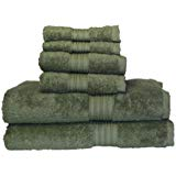 Baltic Linen Egyptian Majestic 6 Piece Heavy Weight Cotton Towel Set Moss Green
