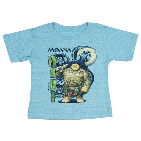 Disney Moana Cartoon Character Maui Little Boys T-Shirt