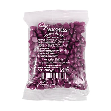 Waxness Wax Necessities Italian Velvet Full Body Wax Small Bag 100 g 3.5 oz