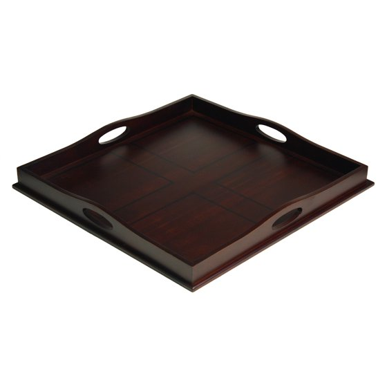 Fabulous Mountain Woods 23 Square Ottoman Luxury Wooden Serving Tray Caraccident5 Cool Chair Designs And Ideas Caraccident5Info