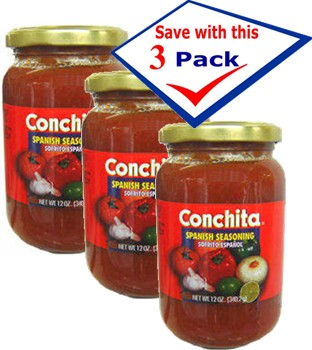 Conchita imported Spanish sofrito. 12 oz jar Pack of 3