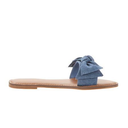 2115d427d Time and Tru - Time and Tru Women's Bow Slide Sandal - Walmart.com