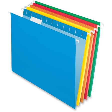 Pendaflex Recycled Hanging Folders, Assorted, Letter Size, 25 per (Folders Business Card Holder Letter)