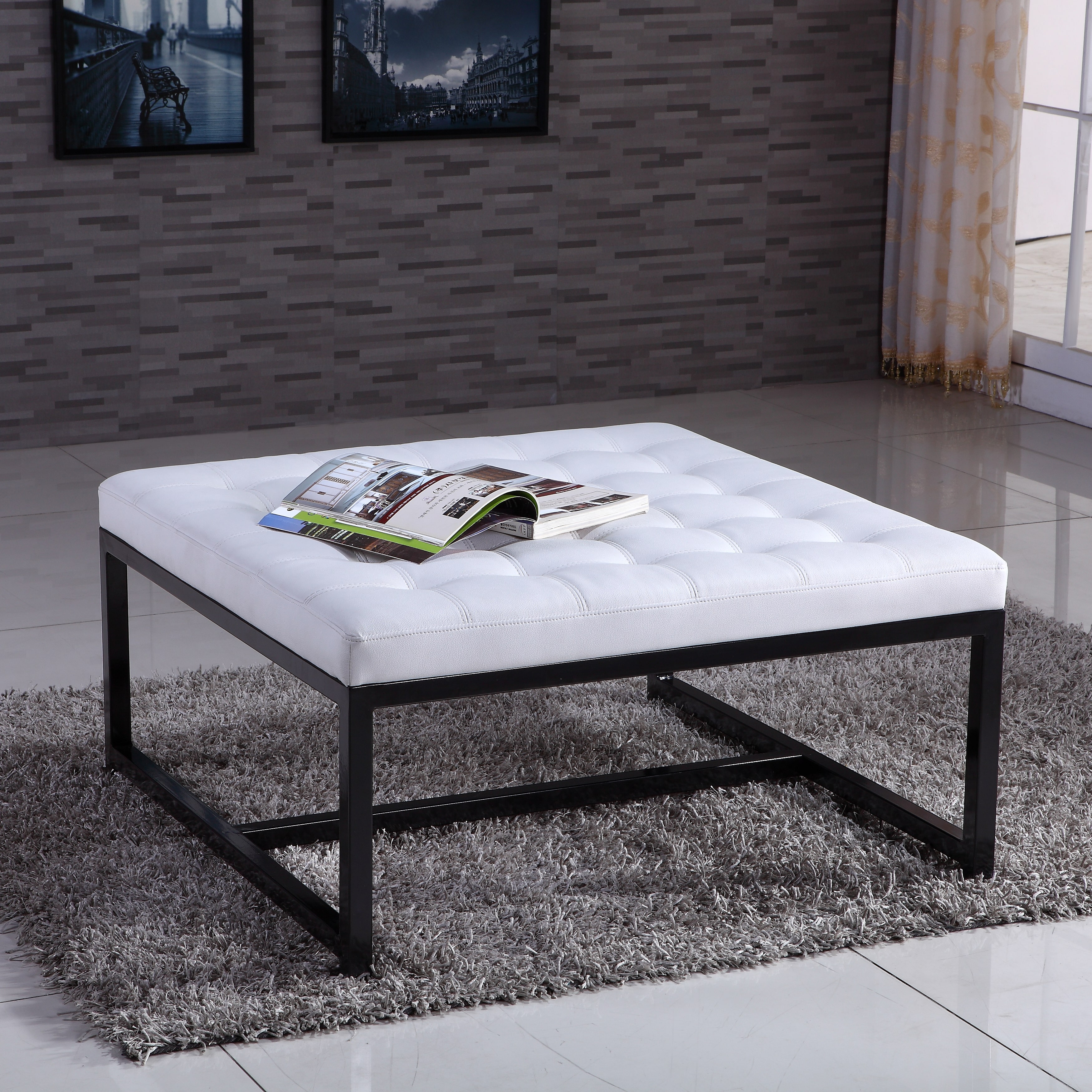 VisionXPro, Inc. Signature Designs Modern Metal Tufted St...