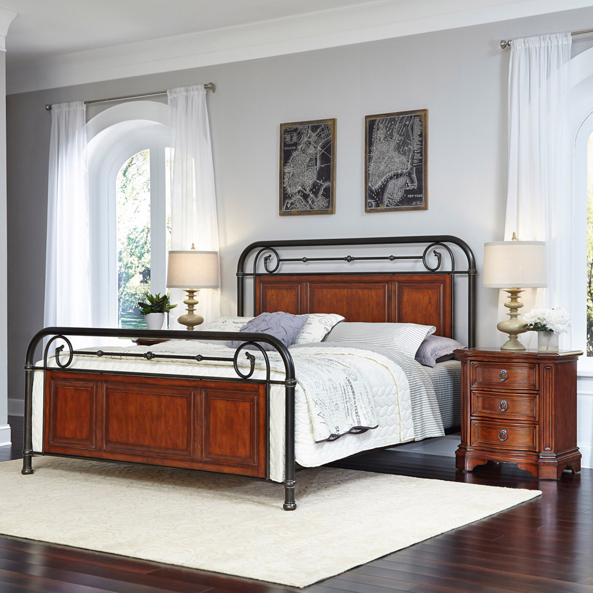 Home Styles Richmond Hill King Bed and 2 Night Stands