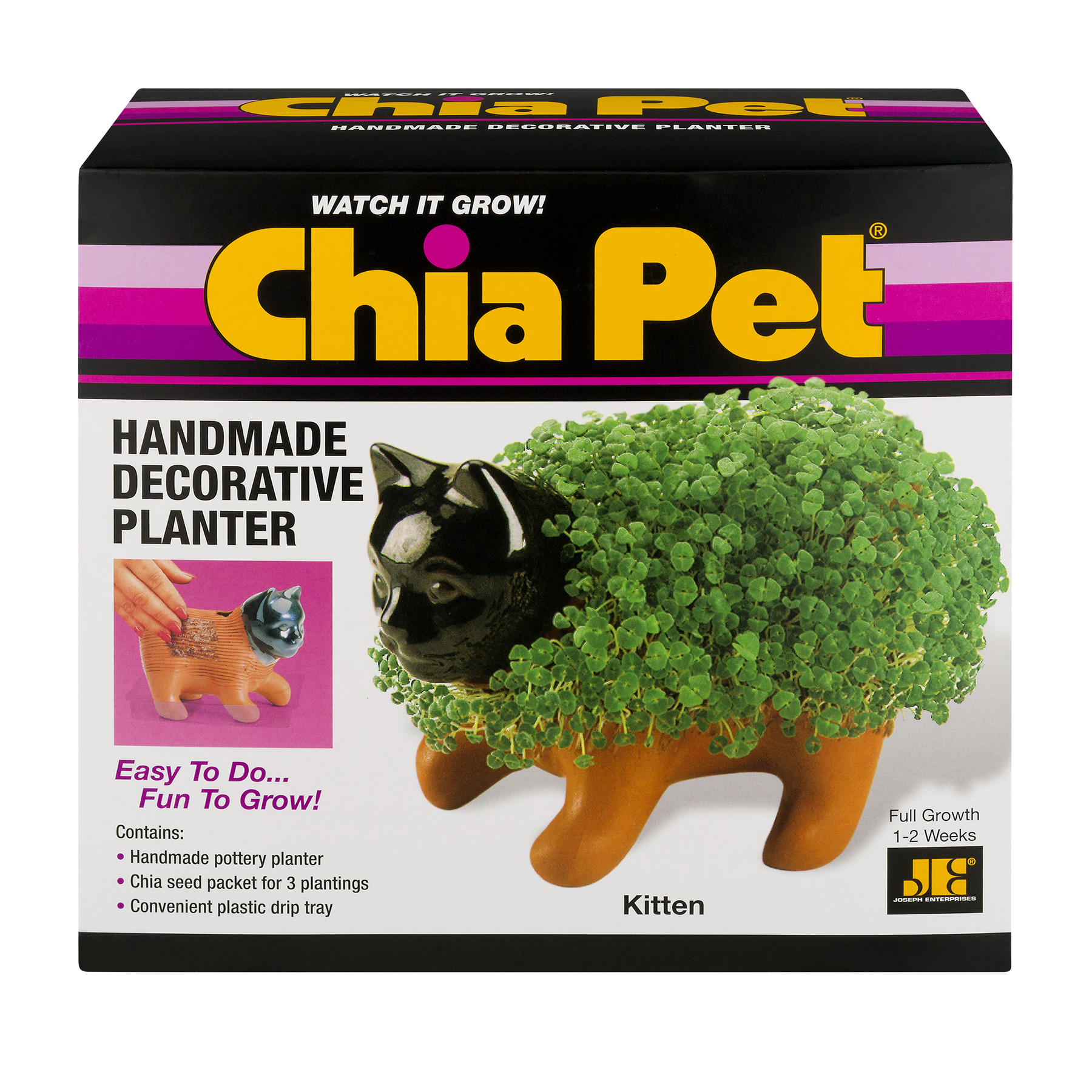 As Seen on TV Chia Pet - Kitten - Handmade Decorative Planter