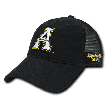 NCAA Appalachian State Mountaineers Curved Bill Relaxed Mesh Trucker Caps Hats