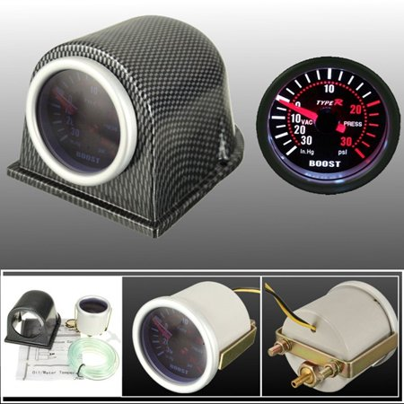 Universal 2 Inch 52mm Car Led Turbo Boost Gauge Meter Pointer Psi Pod Cup Smoke Lens