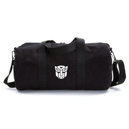 Transformers Robots in Disguise Autobot Logo Canvas Duffle Bag Gym Travel
