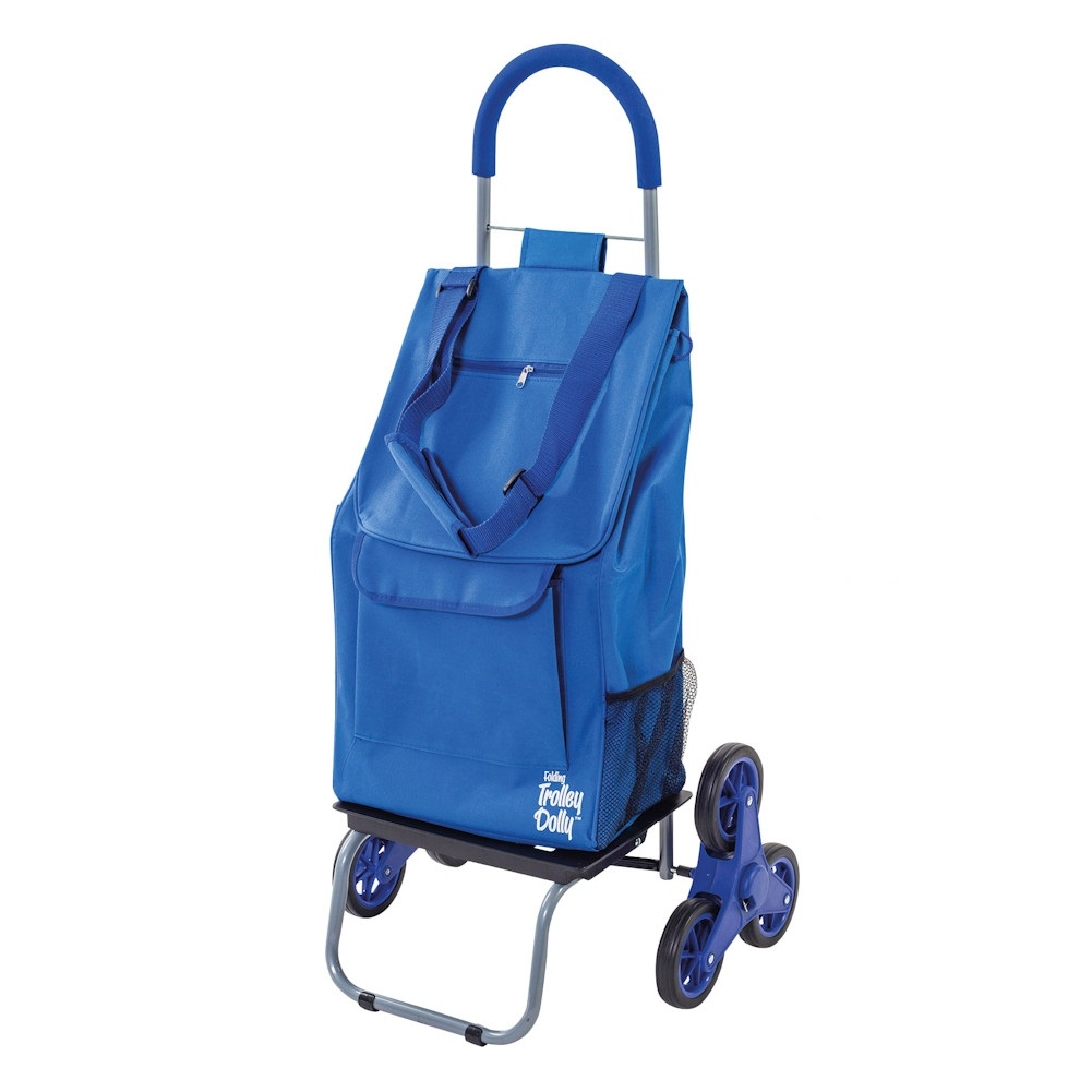 Stair-Climbing Trolley Dolly Bag - Rolling Foldable Cart