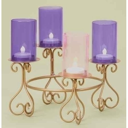 "7.25"" Elegant Gold Colored Christmas Advent Tiered Votive Candle Holder"