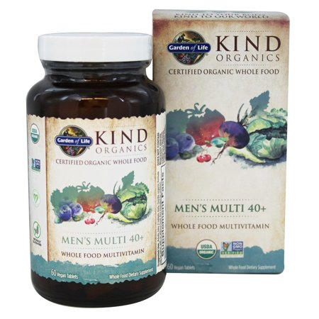 Garden of Life Garden of Life MyKind Organics Multivitamin, 60 ea MULTIVITAMIN SUPPLEMENT: Specially formulated men's multivitamin with prostate support made from nutritious and organic whole foods VITAMINS AND MINERALS: Our vegan multivitamin has 16 vitamins and minerals at 100% DV or higher PROSTATE SUPPLEMENT: mykind's vegan multivitamin for men 40+ includes folate and manganese for prostate health, chromium for healthy metabolism and B-12 for energy