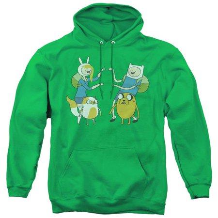 Trevco Sportswear CN281-AFTH-3 Adventure Time & Meet Up-Adult Pull-Over Hoodie, Kelly Green - Large - image 1 de 1