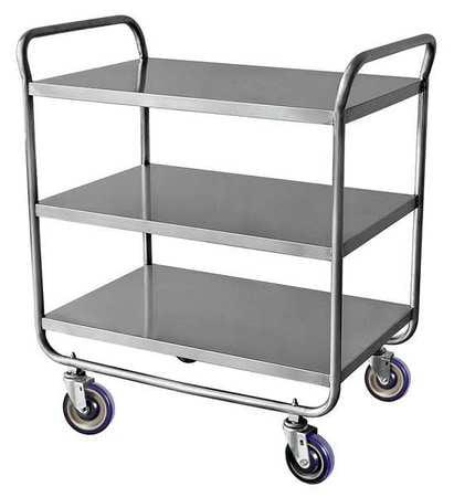 Utility Cart,Flat Shelves,500 lb.,SS ZORO SELECT 23AR47