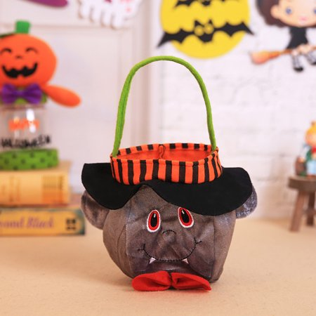 Halloween Kids Doll Candy Sweet Jar Box Children Storage Cans Party House Decor