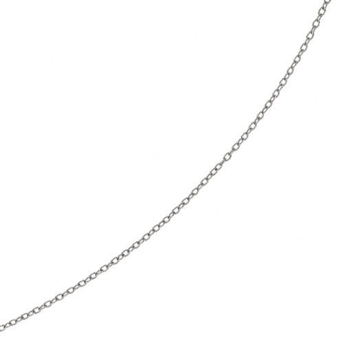 Jewelryweb 14K Necklace - Gold Textured Oval Link