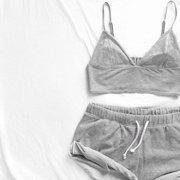 Women Girls Tank Top + Shorts Underpants Pajamas Set Summer Sleepwear Nightwear