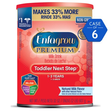 Enfagrow Premium Toddler Next Step Natural Milk Drink (6 Cans) - Powder, 32 Oz Cans