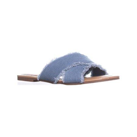 - Womens Esprit Francis CrissCross Flat Sandals, Light Blue, 11 US