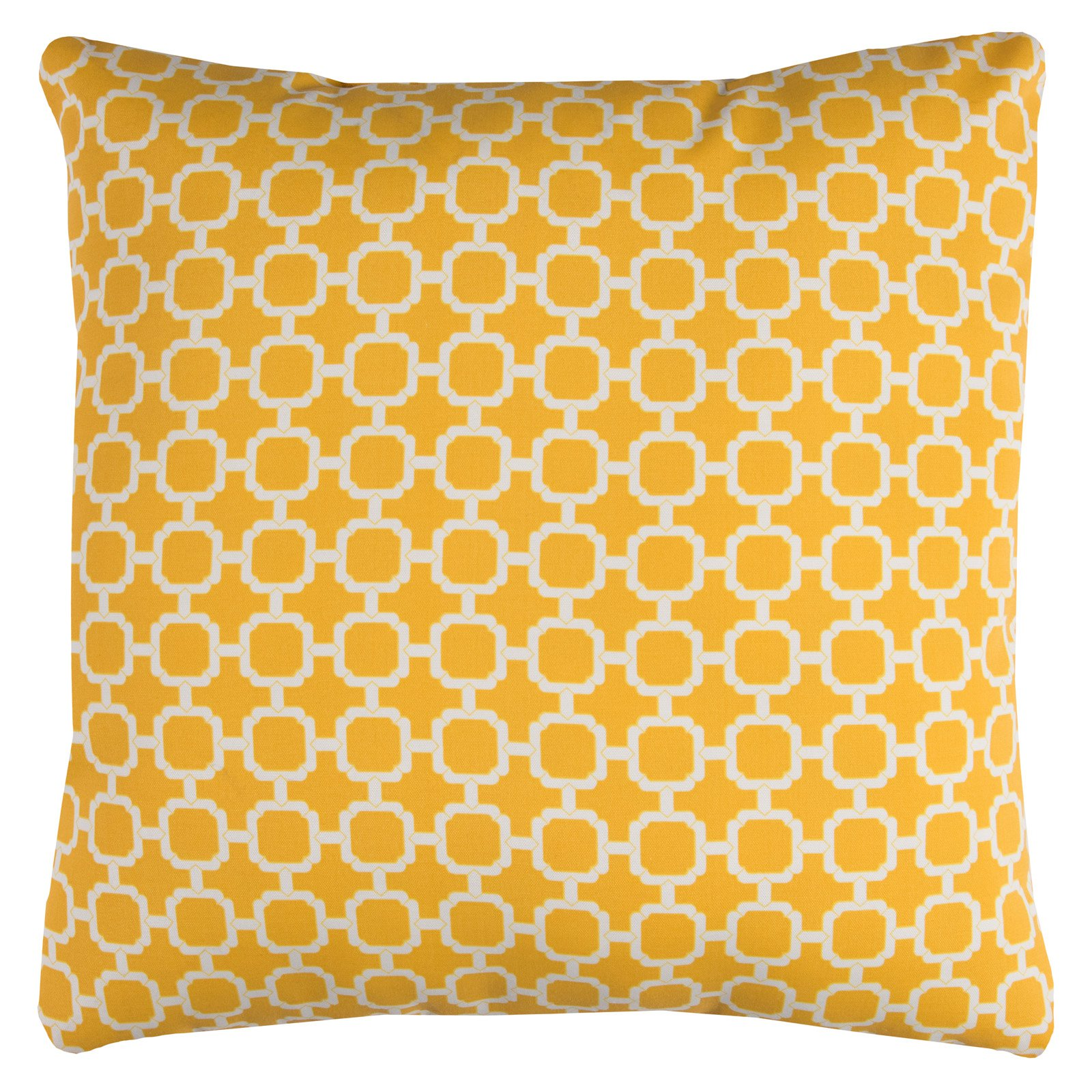 """Rizzy Home Decorative Poly Filled Throw Pillow Geometric 22""""X22"""" Yellow"""