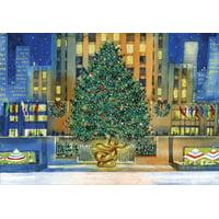 Designer Greetings Rockefeller Center Tree Box of 18 New York City Christmas Cards