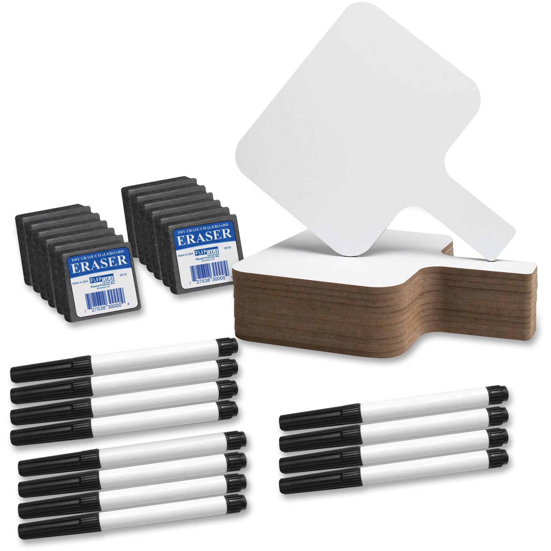 Flipside, FLP10041, Rectangle Dry Erase Answer Paddle Set, 12 / Pack